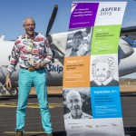 Dr Karl arrives at Carnarvon Airport.