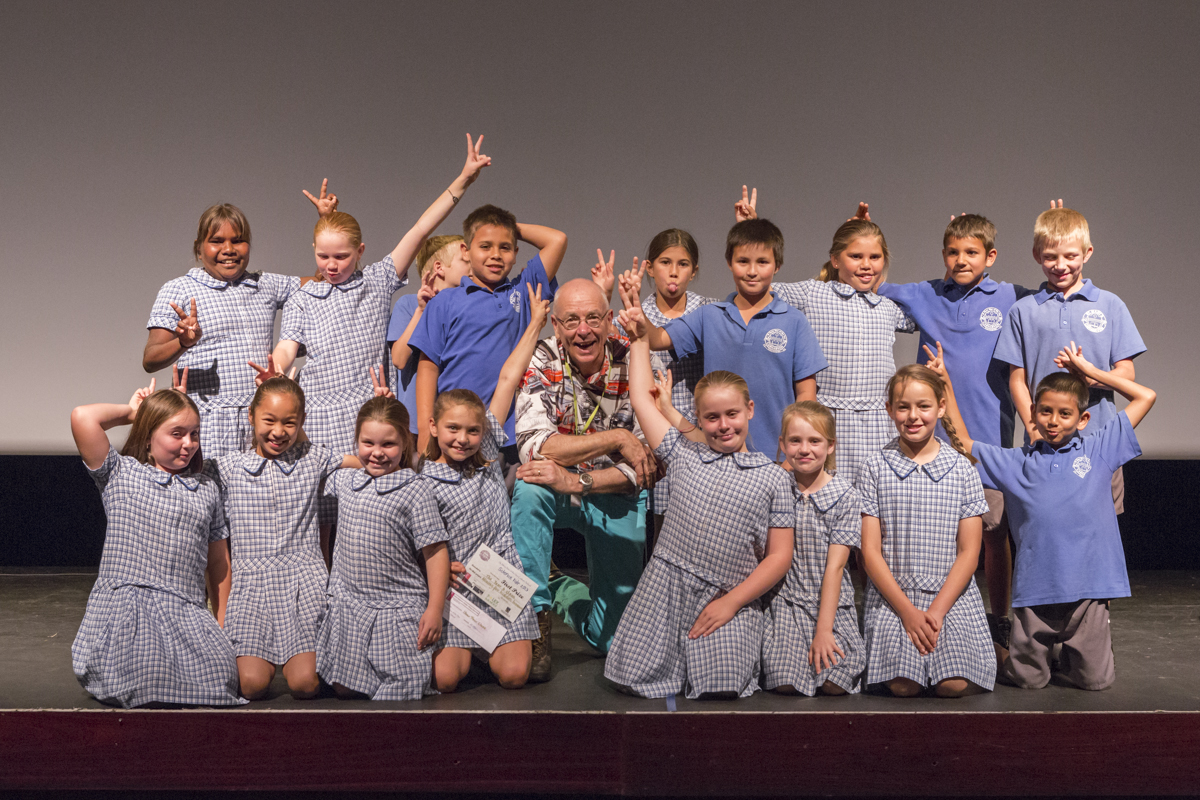 St Mary's Science Fair winners - Year 4 with Dr Karl.