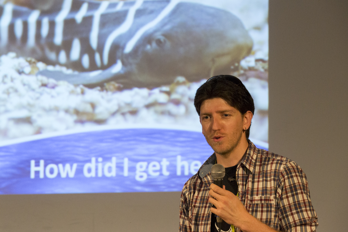 Ryan Kempster was popular in presenting electrifying facts about sharks.