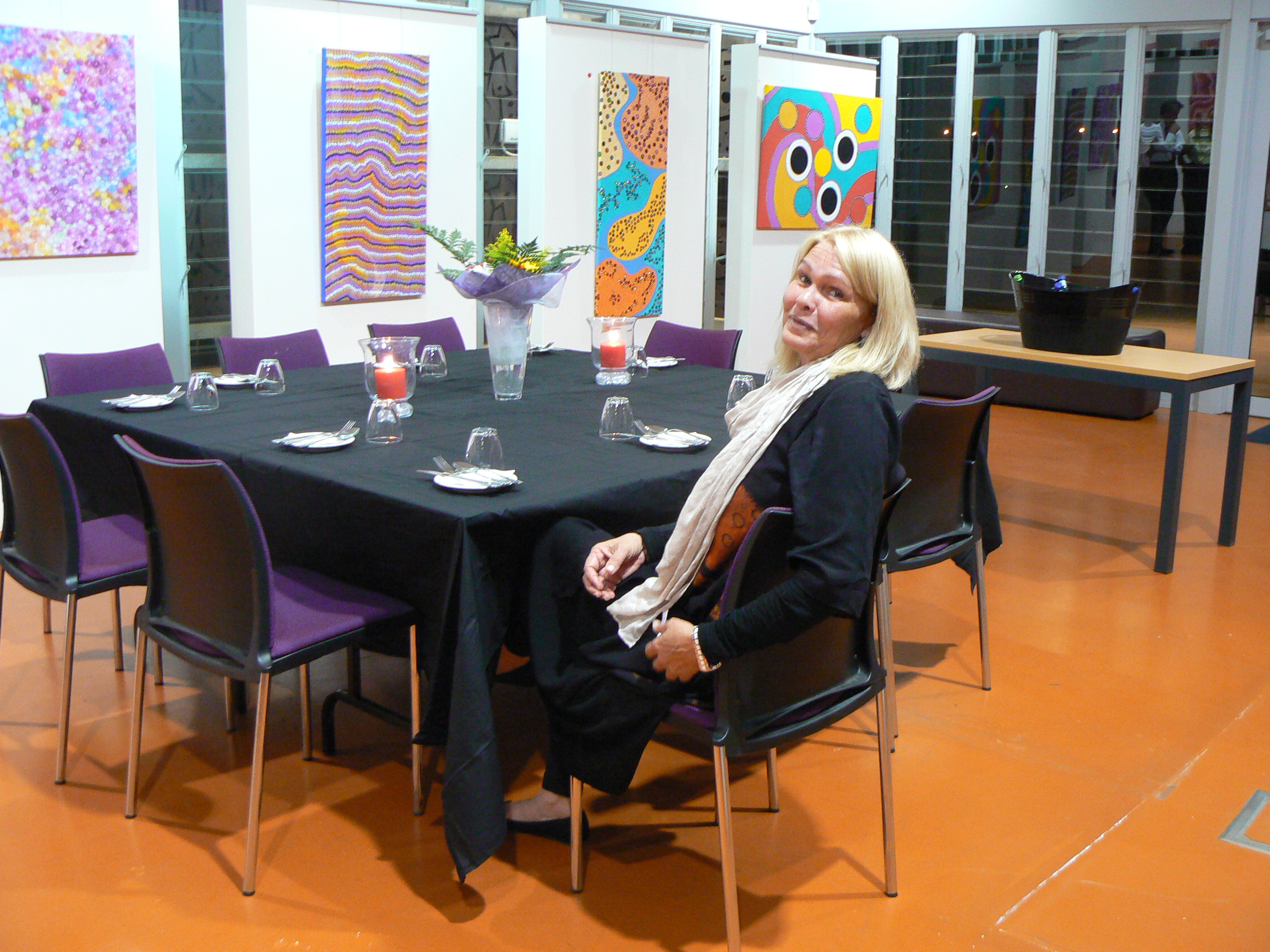 Bonni Ingram the Artist who generously hosted the launch of the Science Scholarships at her inaugural exhibtion.