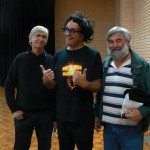 Quiz Master Jim with Mick and Romeo.