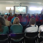 Dr Karl mesmerizing Year 6,7,11,12 of Carnarvon Community College.